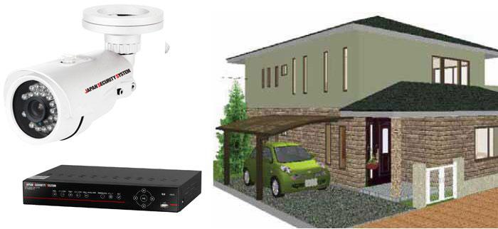 車庫や玄関前の防犯に最適なカメラセット