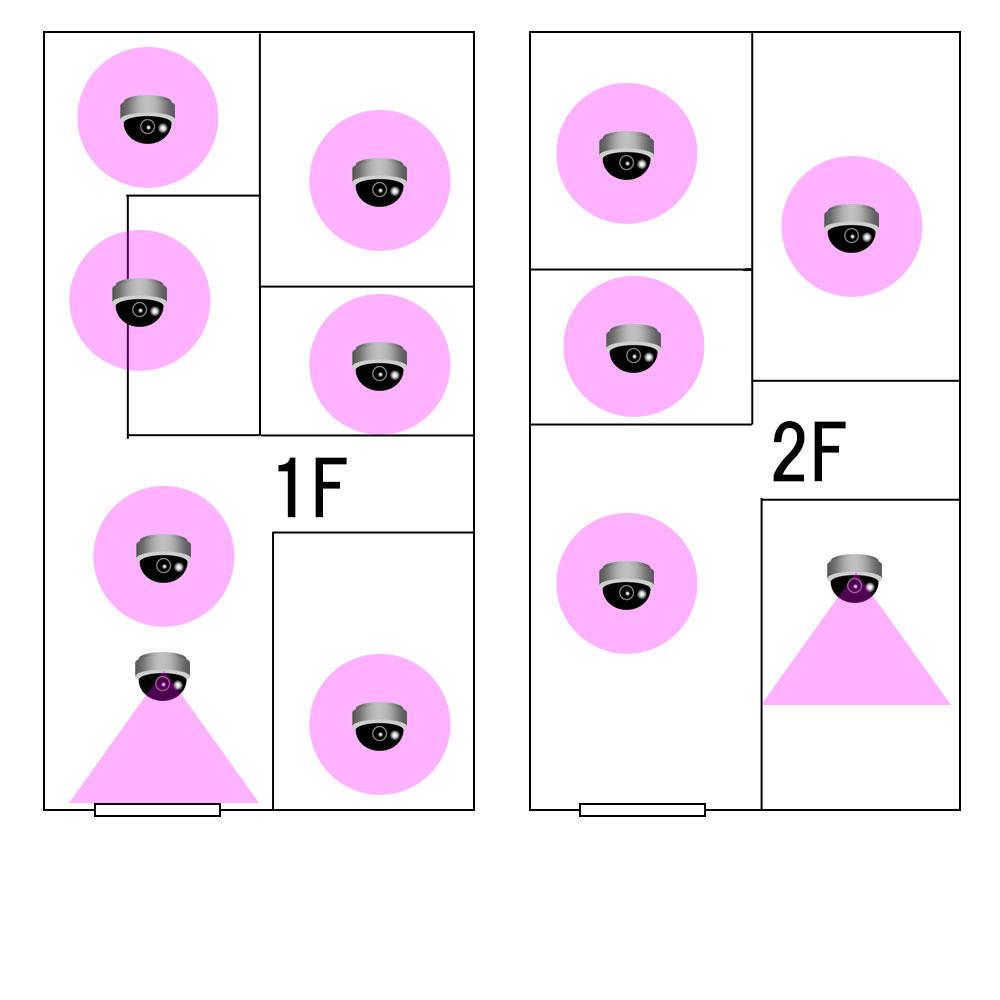 WiFiネットワークカメラ12台の設置