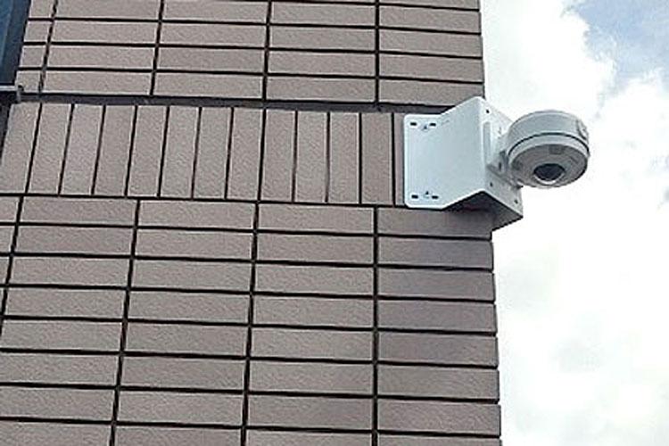 マンションにパナソニック360°全方位ネットワークカメラを1台設置